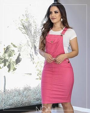 Conjunto jardineira pink + t-shirt | Moda Evangelica e Executiva