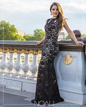 Vestido longo renda | Moda Evangelica e Executiva