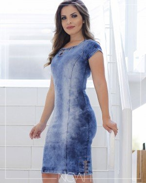 27aa793b0 BLOG - historia e dicas como usar vestidos e conjuntos jeans moda ...