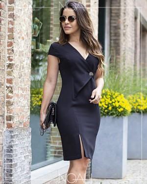 Vestido tubinho preto | Moda Evangelica e Executiva